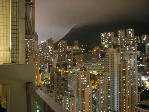 Hong Kong's skyscrapers against the Peak