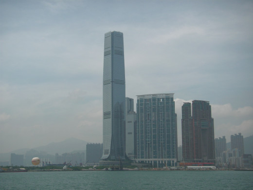 ICC Tower in Kowloon, currently Hong Kong's tallest building.