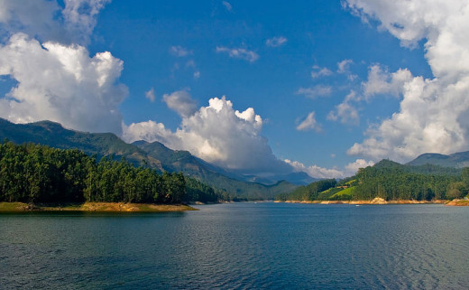 Bimal K C photographed the Mattupetty Dam Reservoir in Munnar, Kerala, India on April 6, 2008. Munnar, the former summer capital of the British in southern India, was developed by the British to cultivate tea plants.