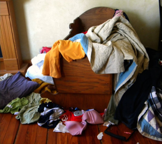 Organize, declutter, and don't let things get overwhelming.
