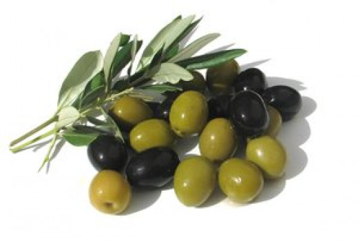 Olives either green or black will work
