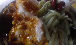 Malacca's cendol is served with gula melaka (palm sugar).