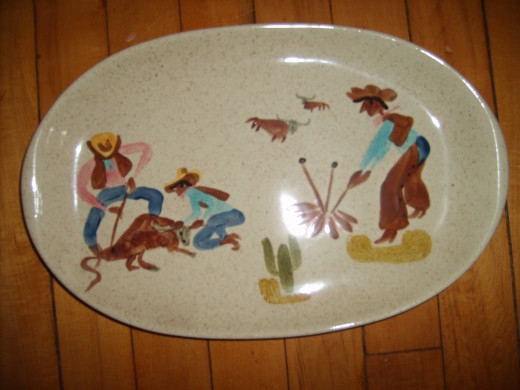 Round Up platter; plates though have a different image, cups/saucers too, etc.