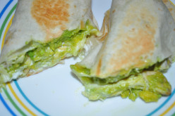Creamy Avocado Chicken Wrap - Quick and Easy Recipe using Leftover Chicken