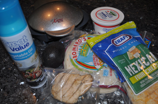 Getting all your ingredients together can ensure you aren't missing anything.