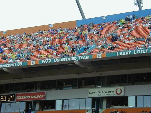 1972 Dolphins Stadium Memorial