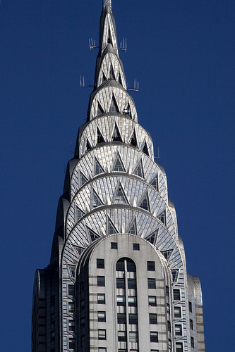 The Chrysler Building in Manhattan is the ultimate in Art Deco Style architecture.