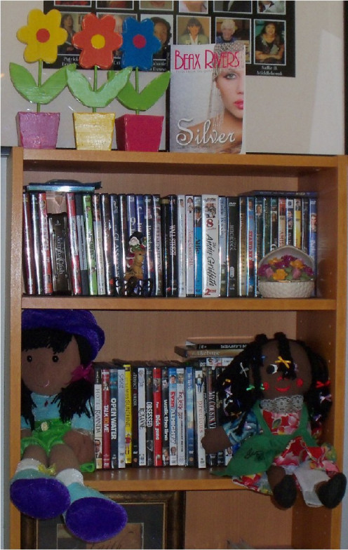 My dolls, my first novel (Beax Rivers is my pen name) and my collection of wooden flowers, are all keepsakes from my own life story. To find out about my first novel (shown above, Silver: Currents of Change), visit mybeaxrivers.com.