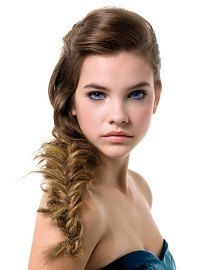 """Fluffed"" Fishtail Braid"