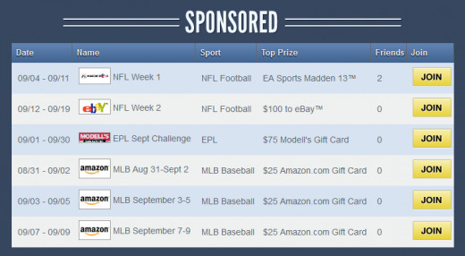 There are several free to play sponsored pools each week on Sports Picker that give away great prizes!
