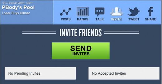 Step 2 is to invite your friends.  For this challenge, I just invited my girlfriend to join me.