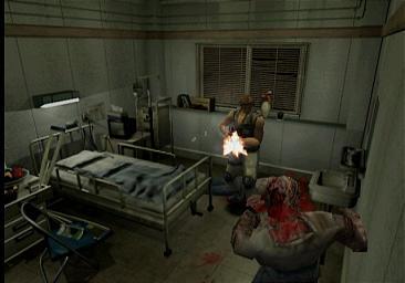 Carlos inside the hospital in Resident Evil 3: Nemesis