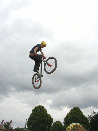 Dirt jumping with style.