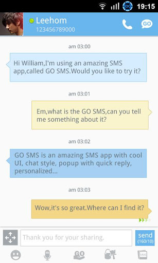 Go SMS Pro: One of the best free Android SMS apps
