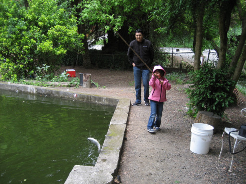 The best part is watching your children catch their first fish.