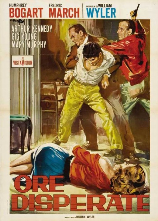 The Desperate Hours (1955) Italian poster