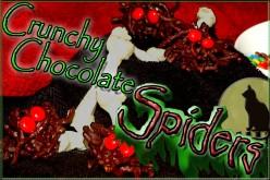 Halloween Treat Ideas, Crunchy Chocolate Spiders