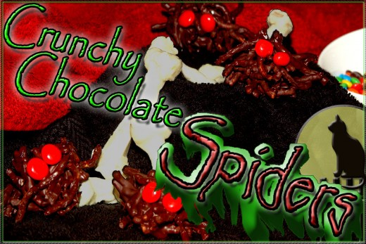 Chocolate Spiders for your Halloween party platter!