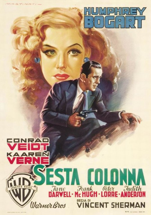 All Through the Night (1941) Italian poster