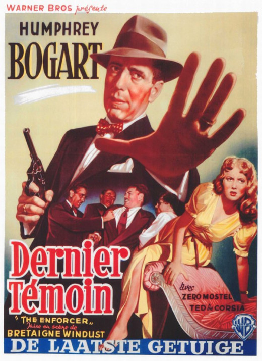 The Enforcer (1951) Belgian poster