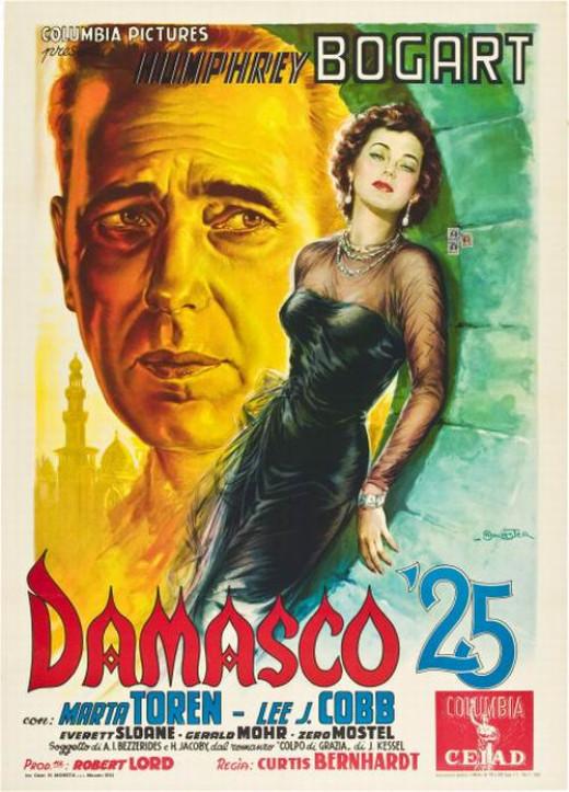 Sirocco (1951) Italian poster