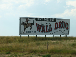 One of hundreds of Wall Drug signs on I-90 in South Dakota