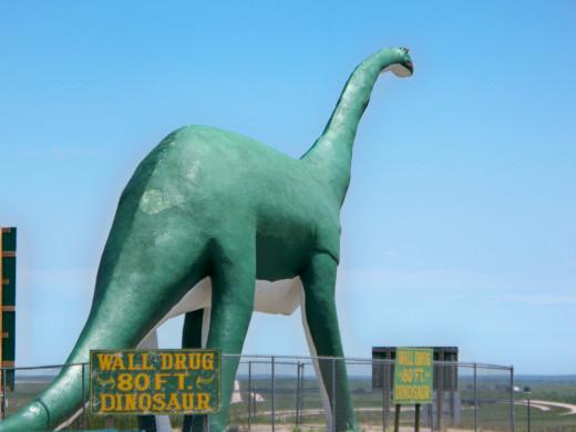 Large Dinosaur near the ramp to I-90
