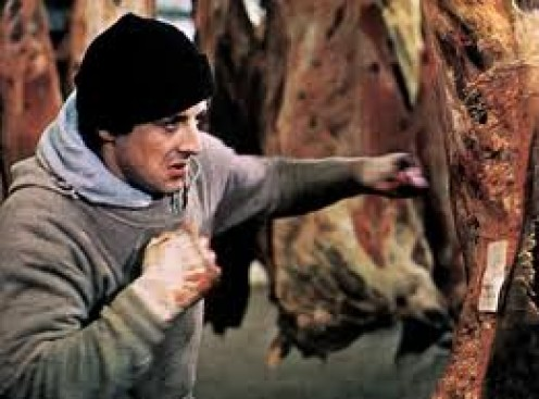Rocky was a boxing movie written and starring Sylvester Stallone. Stallone got the idea for Rocky while attending the Muhammad Ali vs. Chuck Wepner boxing match.