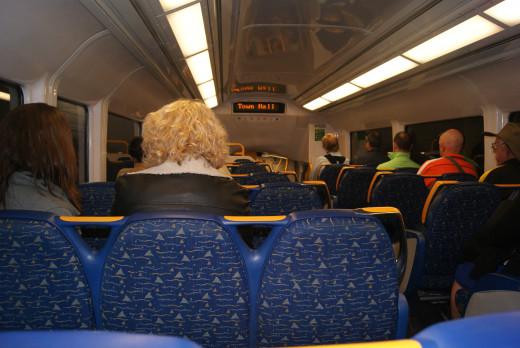 Onboard a Sydney train