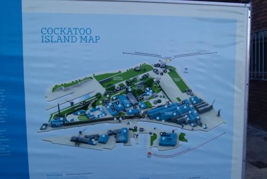 Map of Cockatoo Island Sydney Harbour