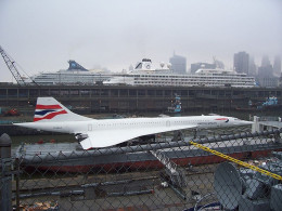 This photograph of a British Airways Concorde was taken at the Intrepid Air Sea & Space Museum by Niesy74 on April 23, 2006.