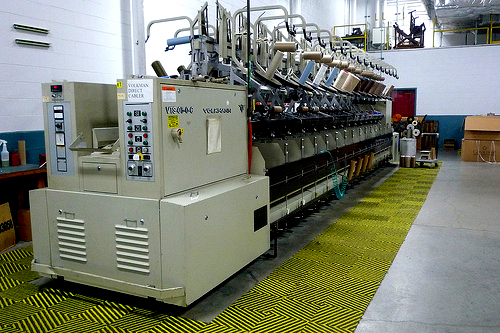 State-of-the-art carpet manufacturing.