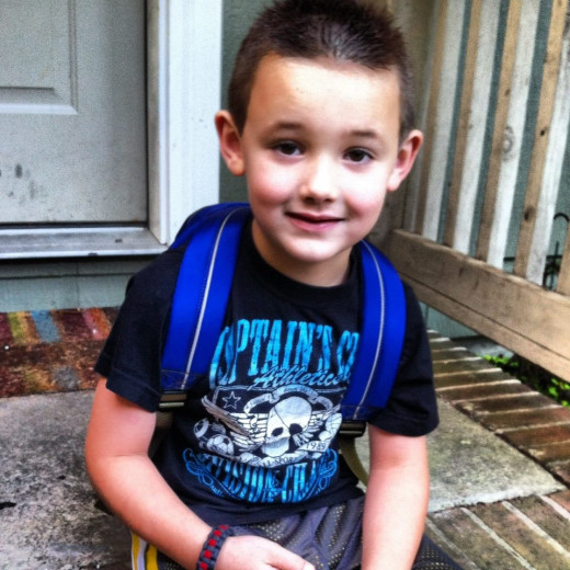 My grandson Colton ready for his first day at Kindergarten