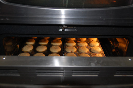muffins in the oven and smelling so good