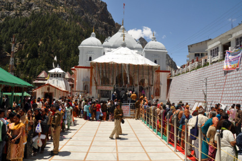 The main temple dedicated to Mother Ganga at Gangotri