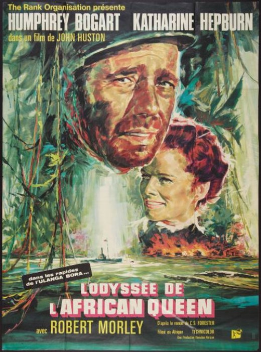 The African Queen (1951) French poster