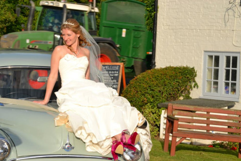 Get the car organised for the bride and groom