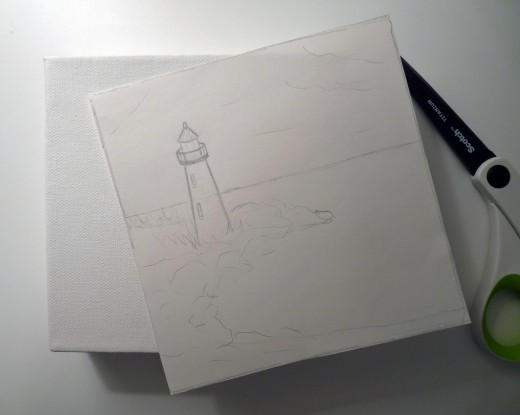Supplies to transfer your sketch to your canvas