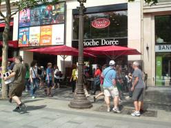 Pavement café in the Champs-Elysées