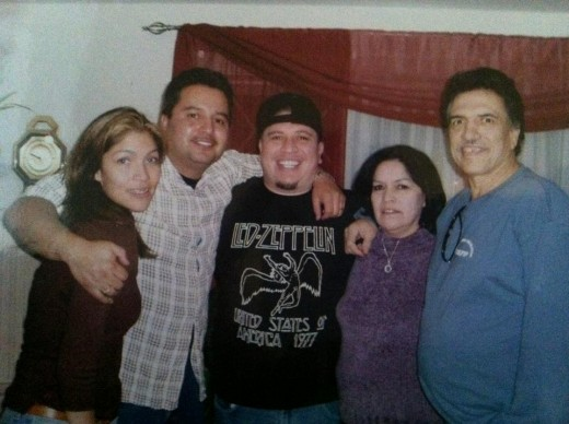 Garcia far right in happier times with the family that pleads for his humanitarian release