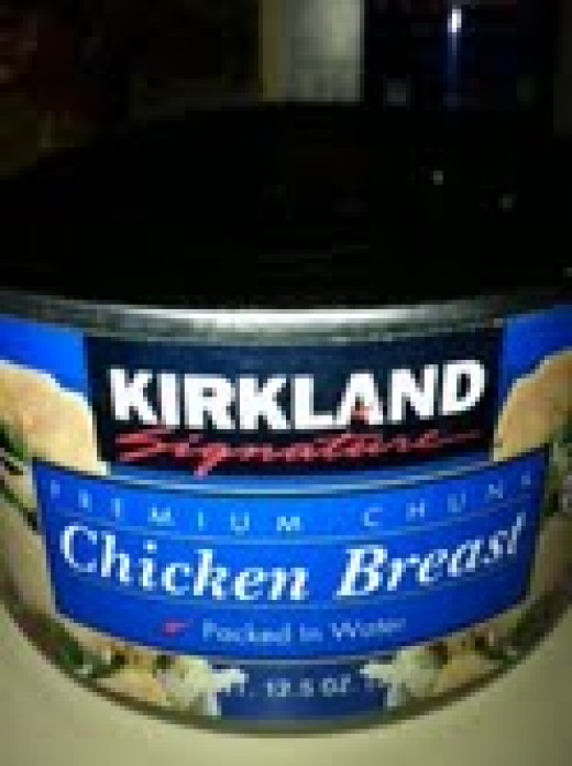 Canned chicken breast.