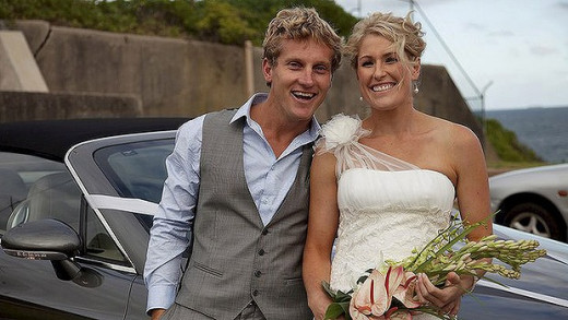 Jon Hines on his wedding day