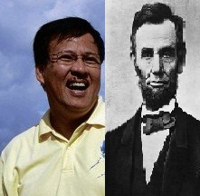 DILG Sec. Jesse Robredo and USA President Abraham Lincoln (Cropped by: Travel Man)