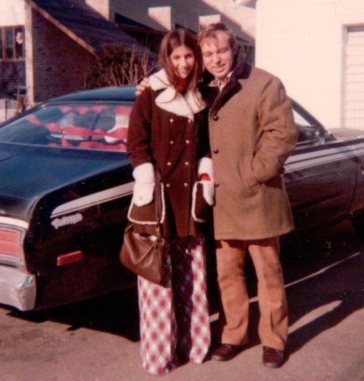 Leaving for Ft. Leonard Wood, MO, after being married on Dec. 30, 1972.