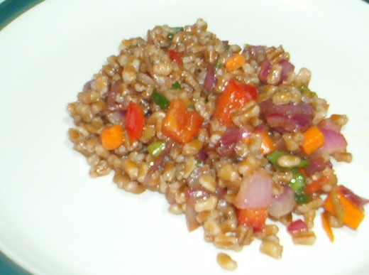 Wheat Berry Salad is one way to combine food deliciously!