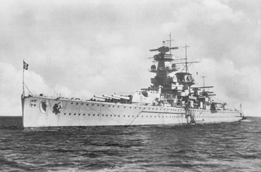 The pocket battleship KMS Admiral Graf Spee