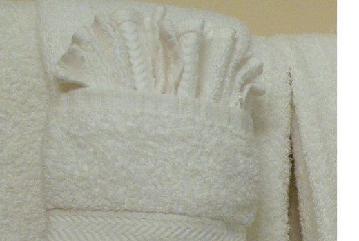 Nice new towels are always a welcom treat for visitors!  Don't let your Guest Bath become an old towel depot.