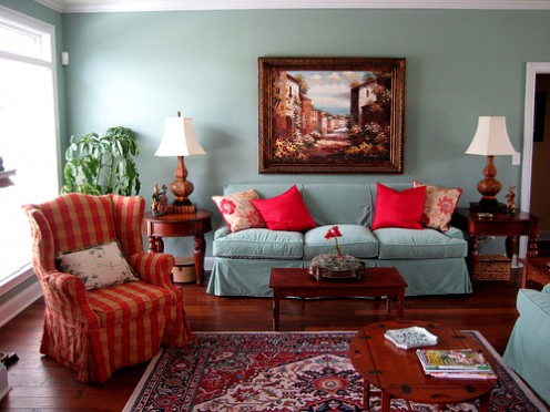 The sofa and chairs all have easy-clean, removable slipcovers.