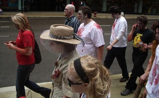 Chicago Smartphone Zombies, 2009.