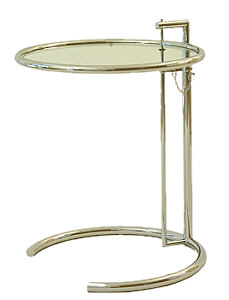 Not her famous Side Table, this example nonetheless shows her flair for non-symmetric, functional and attractive design.